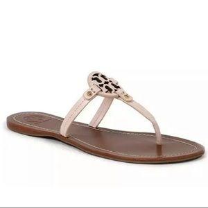 Tory Burch Gabriel Veg Leather Thong Sandals Sz 9